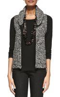 Eileen Fisher Shawl Collar Tweedy Vest - Lyst