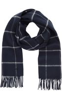 Mulberry Double Faced Check Scarf - Lyst