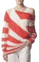 Acne Studios Asymmetric Striped Mohairblend Wideneck Sweater - Lyst