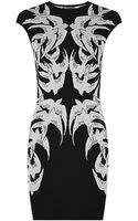 Alexander McQueen Jacquard Bird Pencil Dress - Lyst