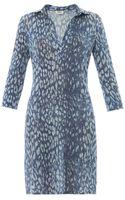 L'Agence Indigo Leopardprint Jersey Dress - Lyst