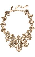 Oscar de la Renta Goldplated Necklace - Lyst