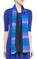 Eileen Fisher Painted Silk Striped Scarf - Lyst