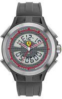 Scuderia Ferrari Mens Swiss Analogdigital Lap Tipe Gray Silicone Strap 46mm - Lyst