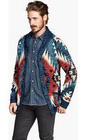 H&M Jacquard-knit Cardigan - Lyst