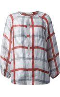 Etoile Isabel Marant Rowan Check Blouse - Lyst