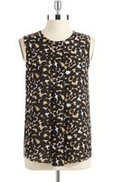 Vince Camuto Petite Sheer Sleeveless Blouse - Lyst