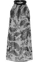 Diane Von Furstenberg Lainey Embellished Printed Silk Mini Dress - Lyst
