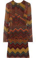 M Missoni Printed Silkchiffon Peplum Dress - Lyst
