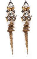 Erickson Beamon Damsel Crystal Spiral Fringe Earrings - Lyst