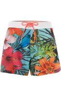 Tommy Hilfiger Tropical Swim Shorts - Lyst