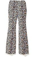 Michael Kors Collection Leopard Jacquard Flared Trouser - Lyst