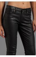 Rich & Skinny Phatomless Skinny in Coated Black - Lyst