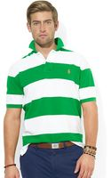 Polo Ralph Lauren Classic Fit Striped Mesh Polo Shirt - Lyst