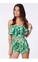 Missguided Charmine Tropical Print Shorts - Lyst