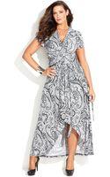 Michael Kors Michael Plus Size Printed Fauxwrap Maxi Dress - Lyst