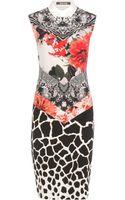 Roberto Cavalli Printed Silk Dress - Lyst