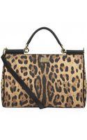 Dolce & Gabbana Medium Sicily Leopard Eastwest Tote - Lyst