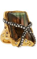 Alexis Bittar Rocky Labradorite Ring with Crystals - Lyst