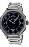 Nixon Mens Black Dial Stainless Steel - Lyst