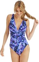 Miraclesuit Allegro V Neck One Piece Swimsuit - Lyst