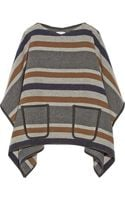 MiH Jeans Striped Wool Blend Poncho - Lyst