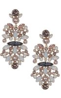 Givenchy Opal Vintage Rose Crystal Chandelier Earrings - Lyst
