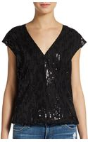 Michael Stars Silk Blouson Hem Shirt - Lyst