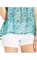 Jessica Simpson Cuffed Denim Shorts - Lyst