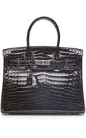 Heritage Auctions Special Collection Hermes 30cm Black Shiny Nilo Birkin - Lyst