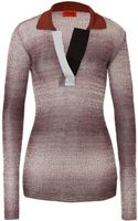 Missoni Variegated Knit Polo - Lyst