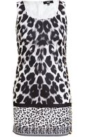 Versus  Leopard Printed Safety Pin Dress - Lyst