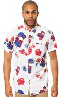 RVCA The Poppy Field Ss Buttondown - Lyst