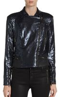 W118 By Walter Baker Ronnie Sequined Biker Jacket - Lyst