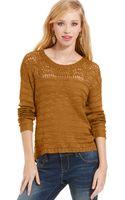 American Rag Open Knit High Low Sweater - Lyst