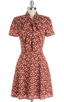 Hello Miss Think Out Laud Dress in Apples - Lyst