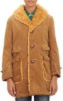 Engineered Garments Faux Shearling Collar Corduroy Coat - Lyst