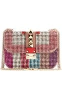 Valentino Lock Small Crystalembellished Shoulder Bag - Lyst