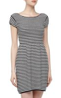 T+art Striped Stretch Knit Dress - Lyst