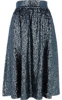 River Island  Sequin A-Line Midi Skirt - Lyst