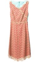 Carven Lace Shift Dress - Lyst