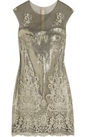 Notte By Marchesa Embroidered Tulle and Woven Dress - Lyst