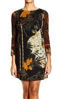 Etro Dress Long Sleeve Print - Lyst