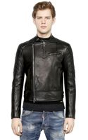 DSquared2 Dean Nappa Leather Moto Jacket - Lyst