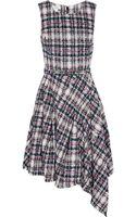 Oscar de la Renta Asymmetric Cottonblend Tweed Dress - Lyst