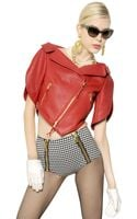 Moschino Heart Shaped Nappa Leather Jacket - Lyst