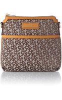 DKNY Saffiano Tan Crossbody Bag - Lyst