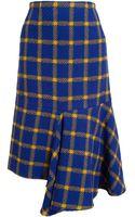 Marni Check Wool Skirt - Lyst