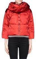 Armani Detachable Collar Down Jacket - Lyst