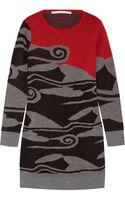 Diane Von Furstenberg Intarsia Wool Mini Dress - Lyst